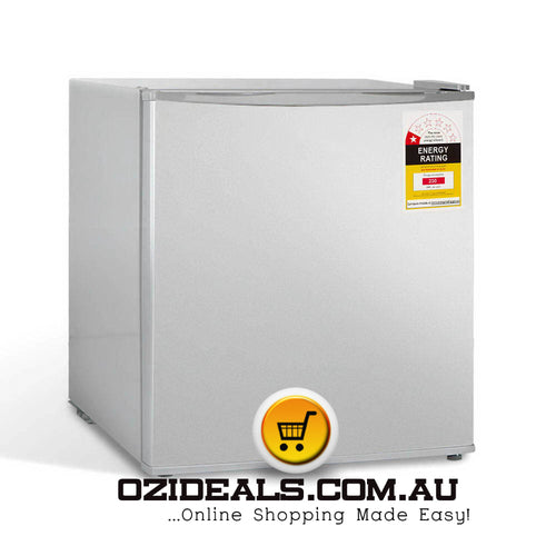 48L Portable Mini Bar Fridge - Silver