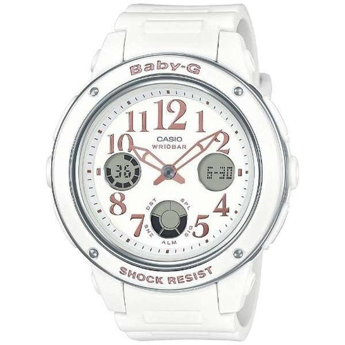 CASIO BABY-G WHITE ANALOGUE/DIGITAL LADIES WATCH