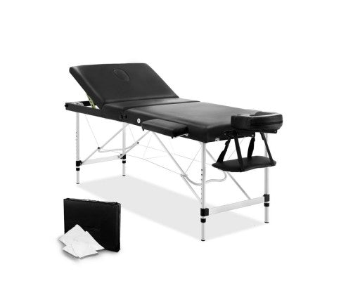60 cm 3 Fold Portable Aluminium Massage Table