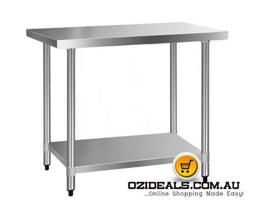 Commercial Stainless Steel Kitchen Bench 610 x 1219mm