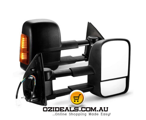 Pair Extendable Towing Mirrors Fit Holden COLORADO