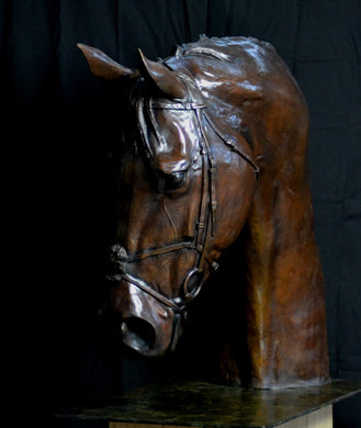 Lifesize Frankel Head sculpture