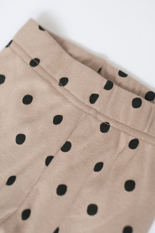 "Ribbed Leggings ""Dots"""