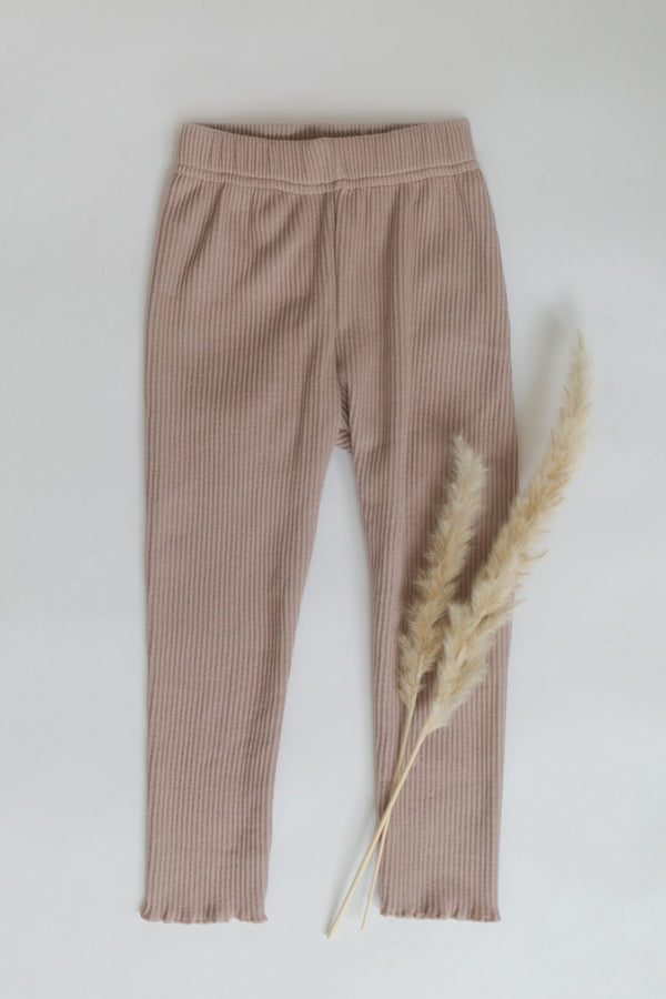 "Organic Leggings ""Regular Ribbed"""
