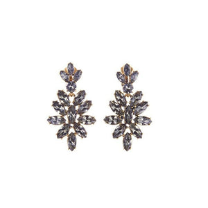 Oscar de la Renta Black Diamond Navette Earrings
