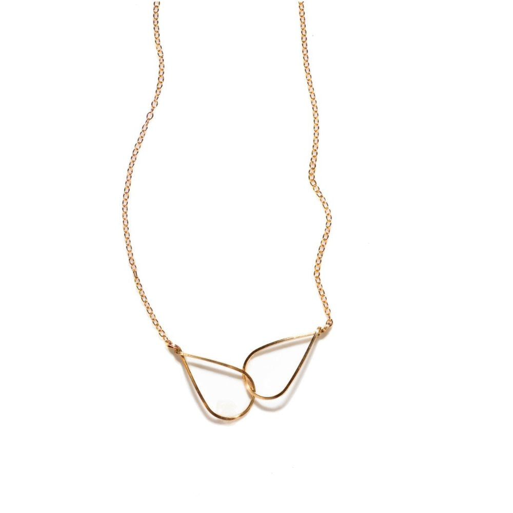 By Boe Teardrop Necklace | 14K Gold Plate | Bridemaids Gifts Ideas