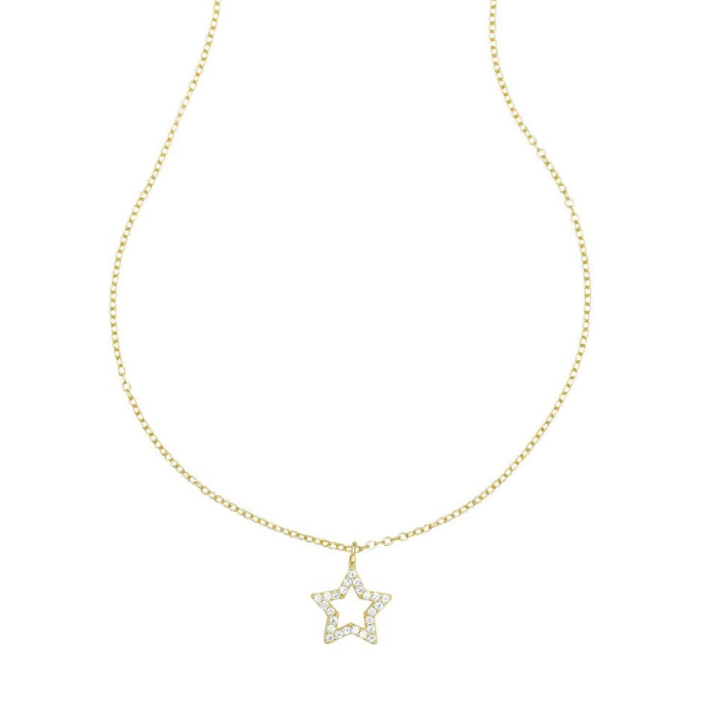 LOULERIE CRYSTAL OPEN STAR NECKLACE