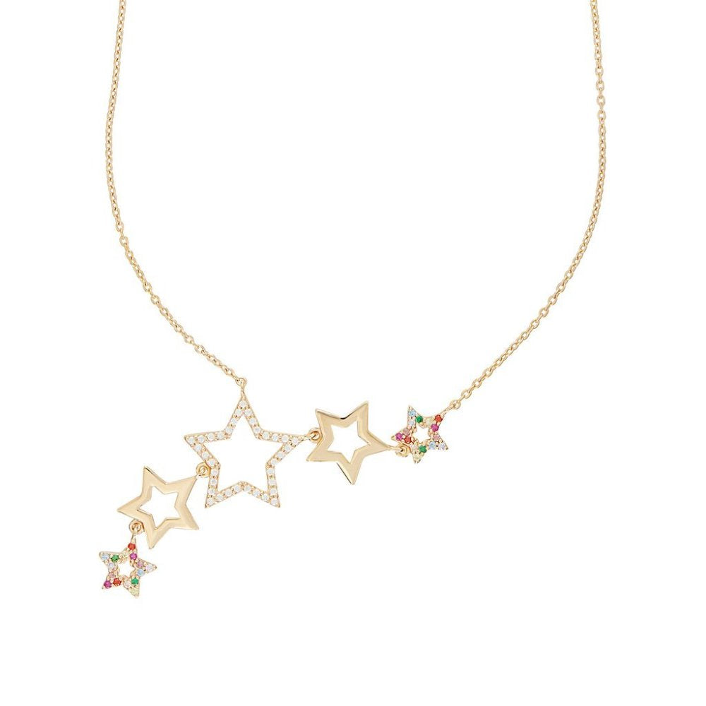 ROSIE FORTESCUE GOLD STAR CLUSTER NECKLACE