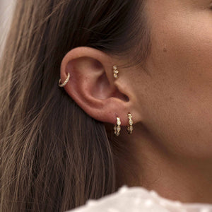 Loulerie 14K Gold and White Diamond Ear Cuff