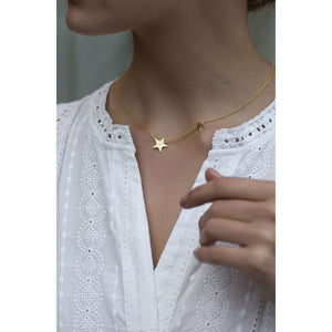 Gorjana Super Star Necklace | 18K Gold Plate | Star