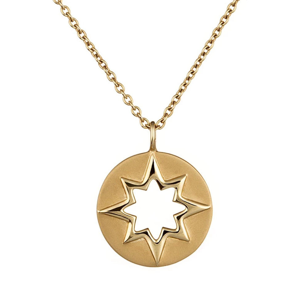 Loulerie 14k Yellow Gold Cut Out Star Necklace
