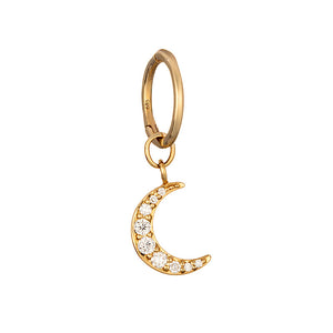 LOULERIE DIAMOND MOON HUGGY HOOP
