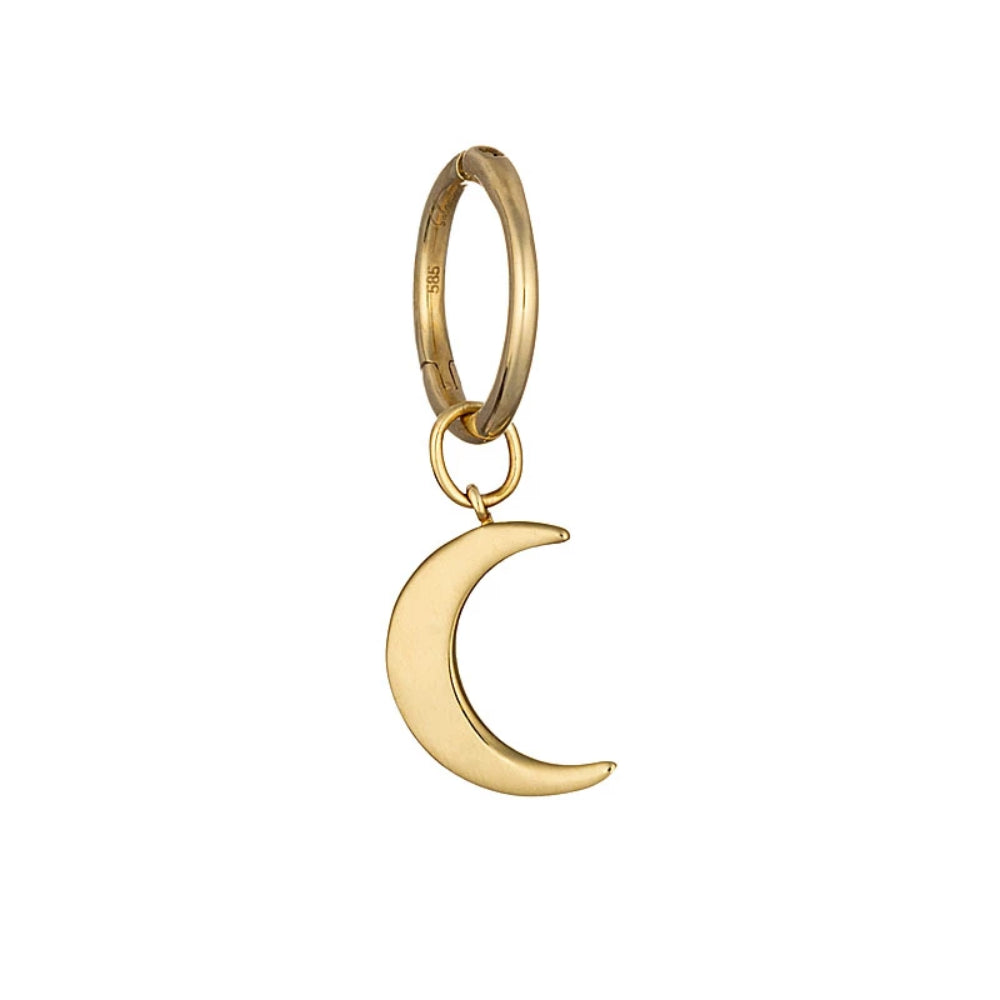 Loulerie Gold Moon Huggy Hoop | 14K Gold | Earrings