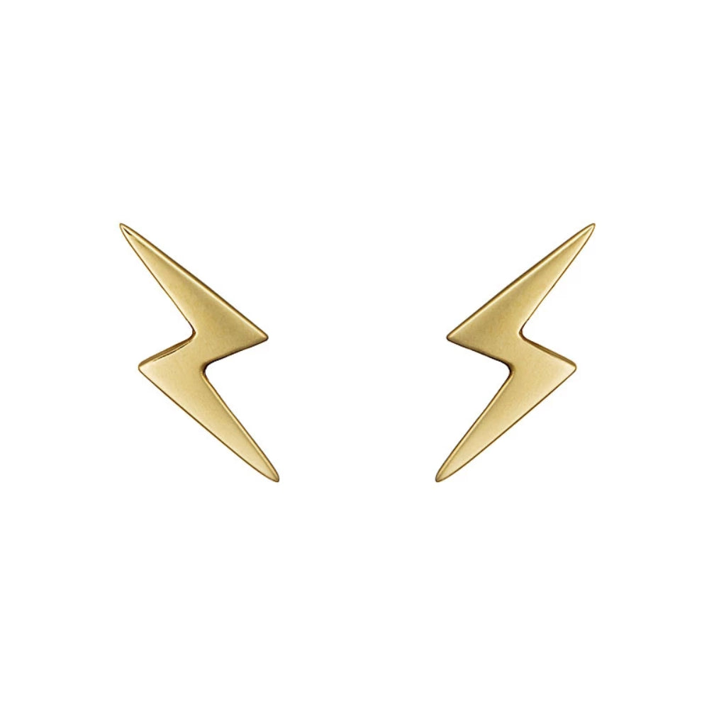 Loulerie Lightning Bolt Earrings | 14K Yellow Gold