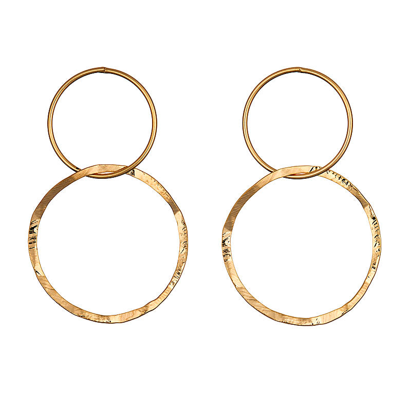 LOULERIE DOUBLE CIRCLE EARRINGS