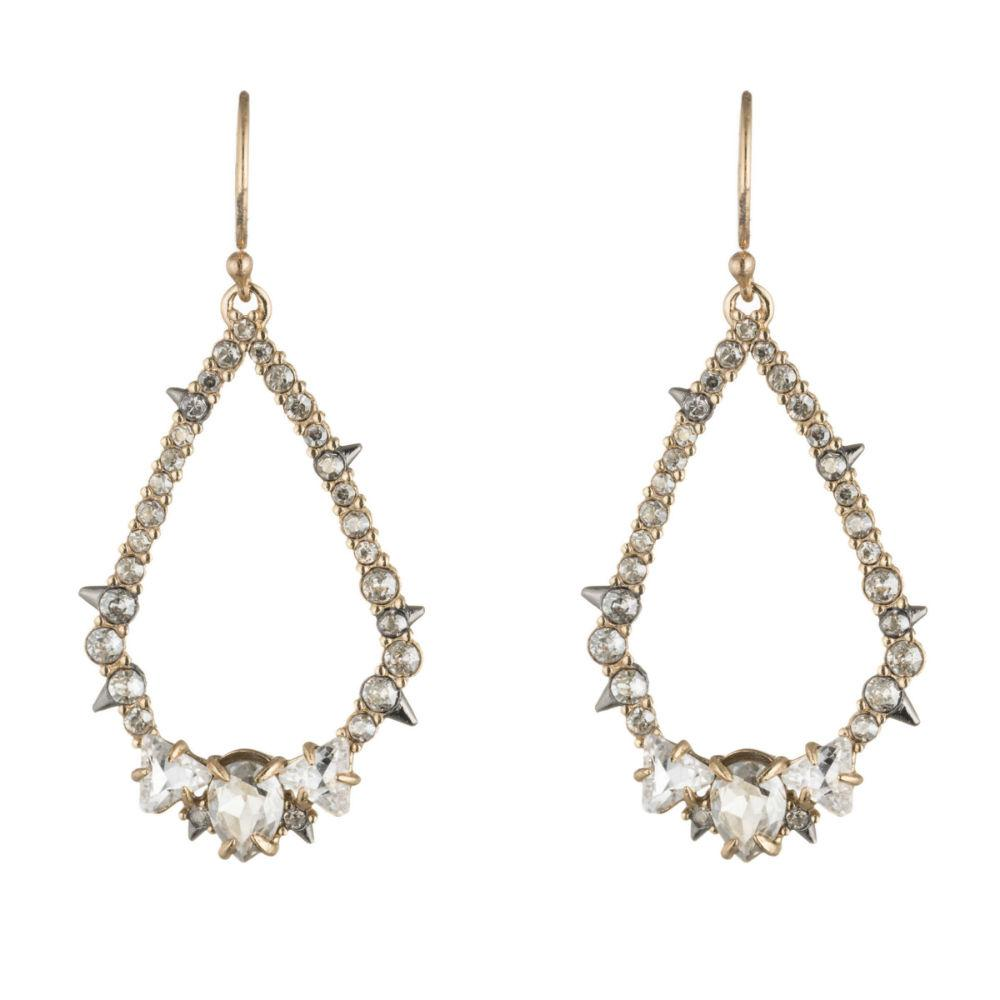 ALEXIS BITTAR CRYSTAL ENCRUSTED SPIKE TEAR EARRINGS