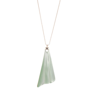 ALEXIS BITTAR WAVY FAN PENDANT NECKLACE