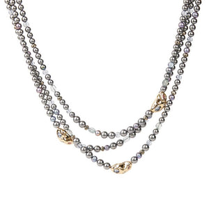 Alexis Bittar Beaded Triple Necklace | Gold
