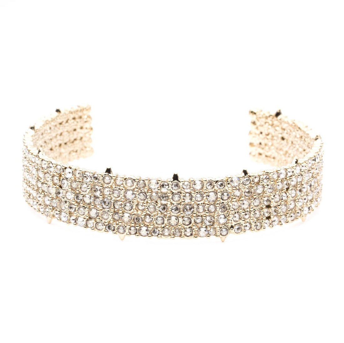 Alexis Bittar Crystal Lace Cuff | Gold | Crystals | Bangles