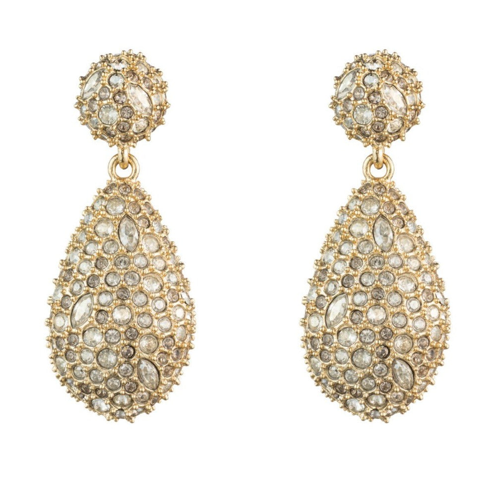 Alexis Bittar Crystal Encrusted Dangling Earrings | Gold | Crystals | Bridal Edit