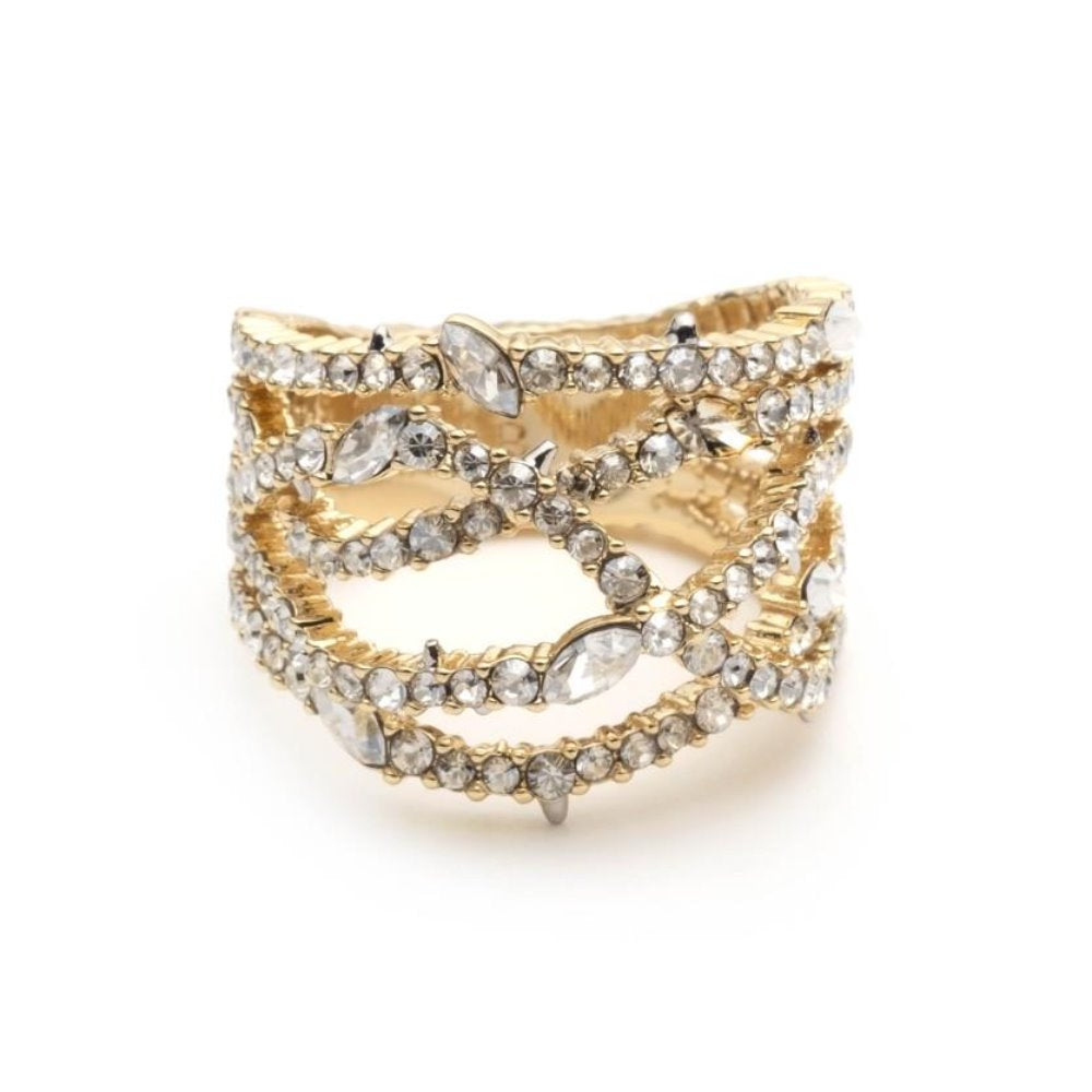 Alexis Bittar Pave Orbit Ring | White Crystals | Ring