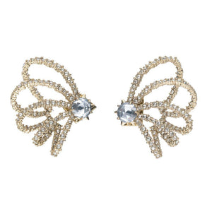 Alexis Bittar Crystal Lace Orbit Earrings | Crystals | Gold | Bridal Edit