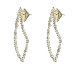Alexis Bittar Crystal Encrusted Open Angular Earrings