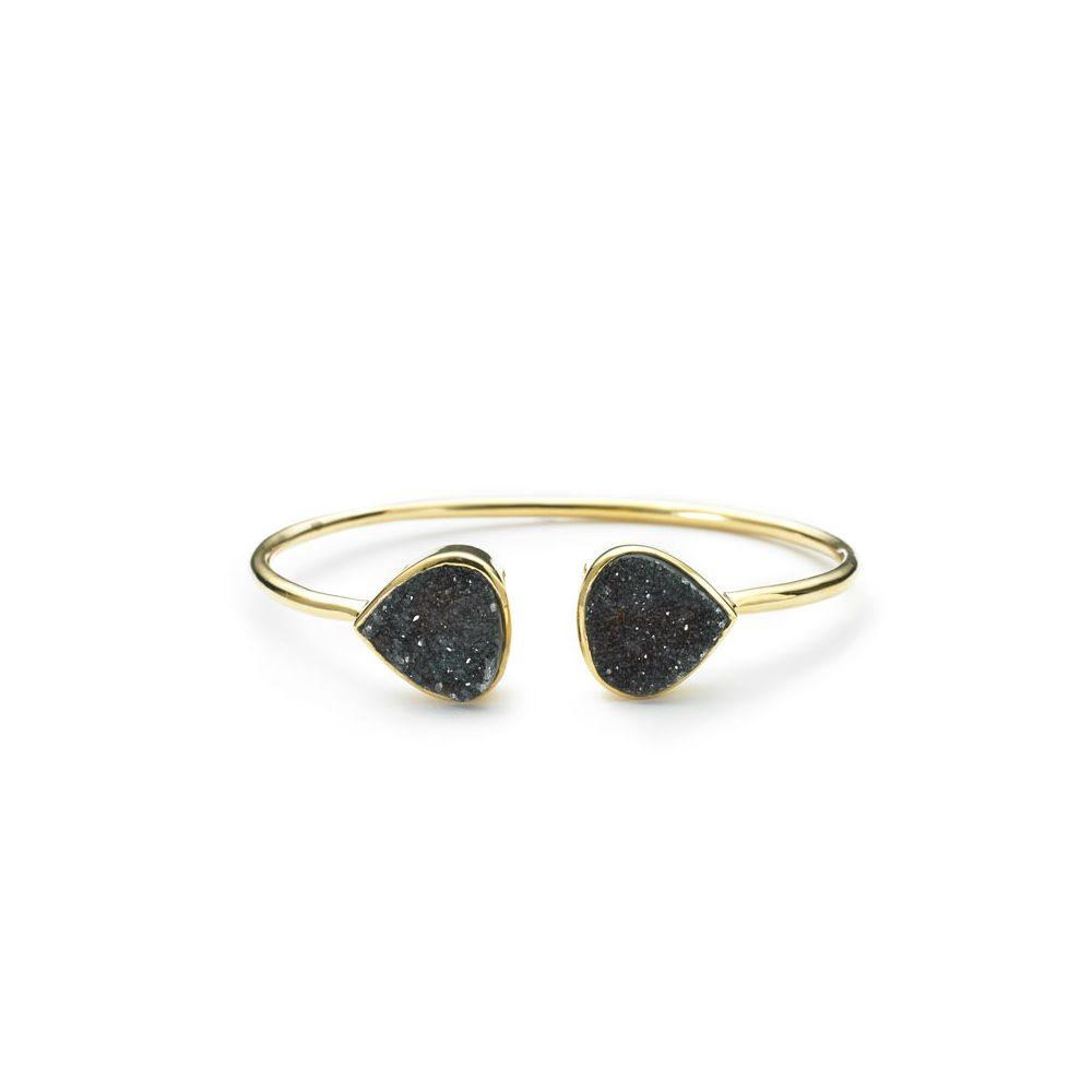 Margaret Elizabeth Black Druzy Bangle