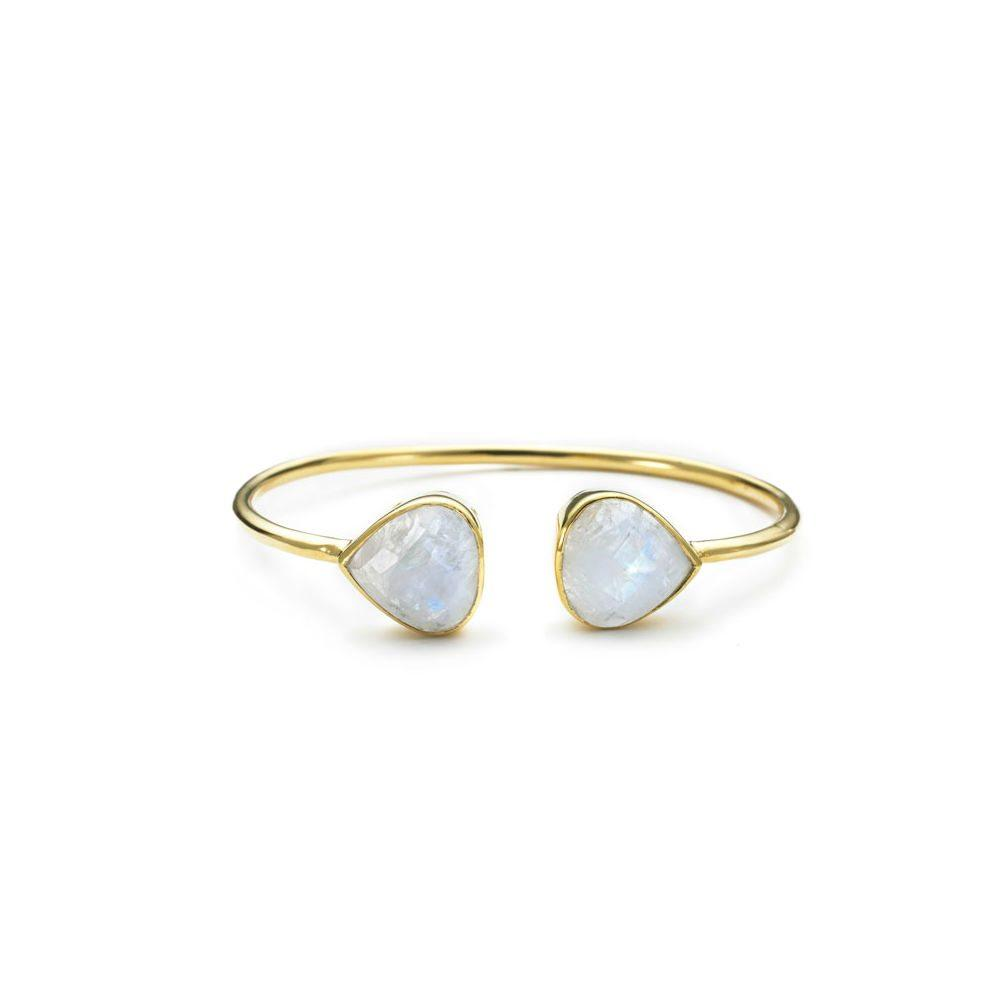 MARGARET ELIZABETH MOONSTONE BANGLE