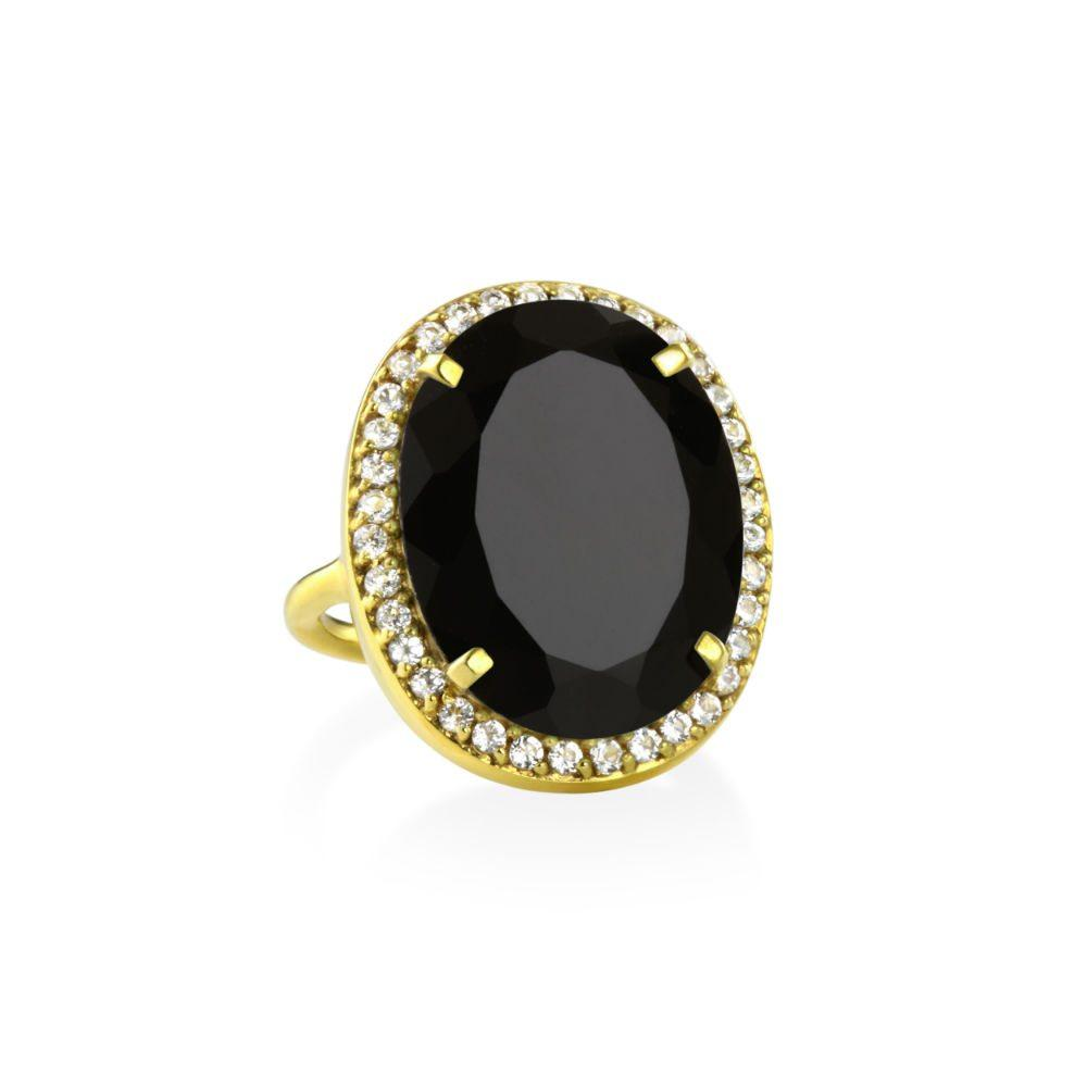 MARGARET ELIZABETH BLACK ONYX RING