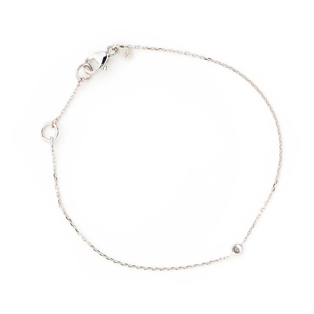LOULERIE DIAMOND DROPLET WHITE GOLD BRACELET