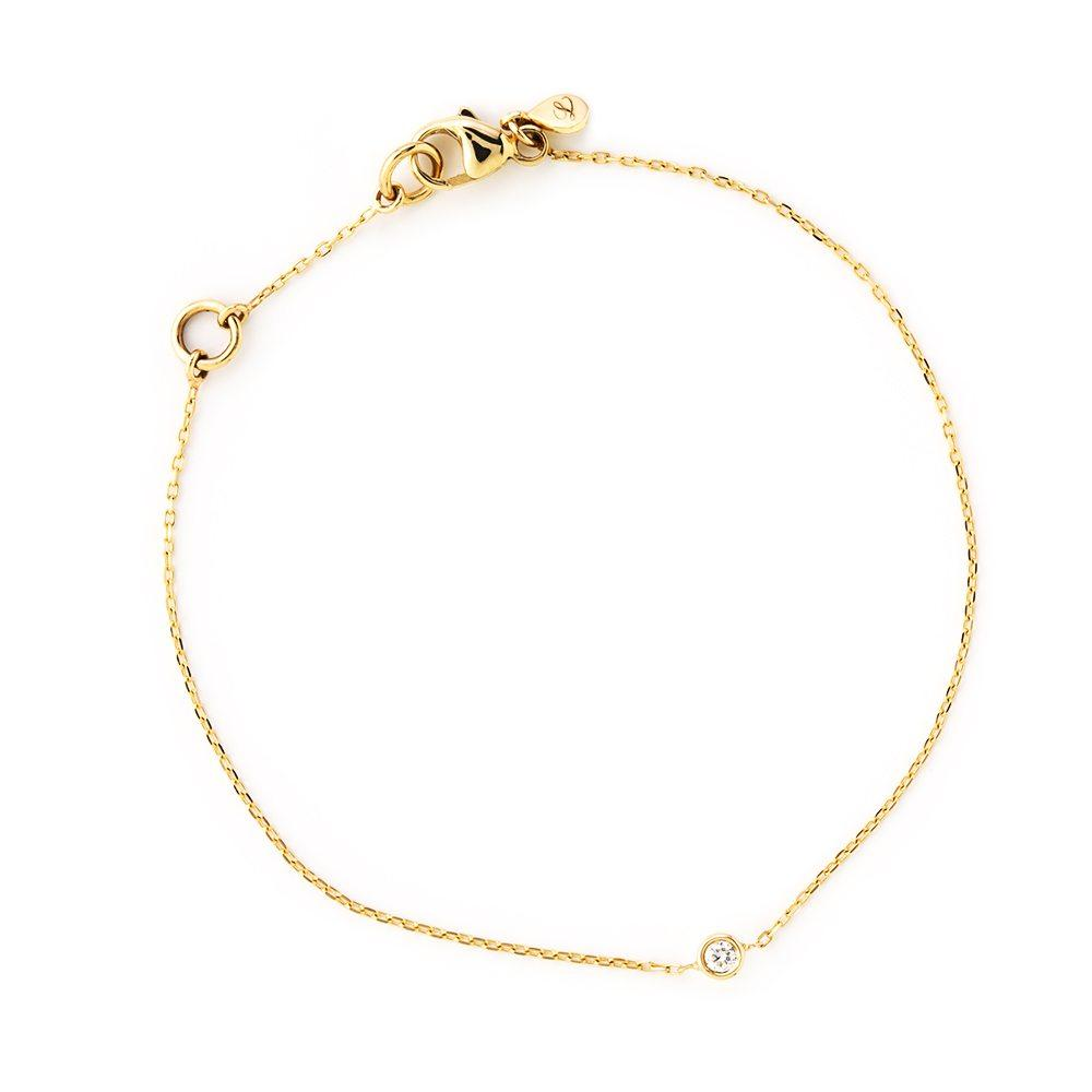 LOULERIE DIAMOND DROPLET GOLD BRACELET