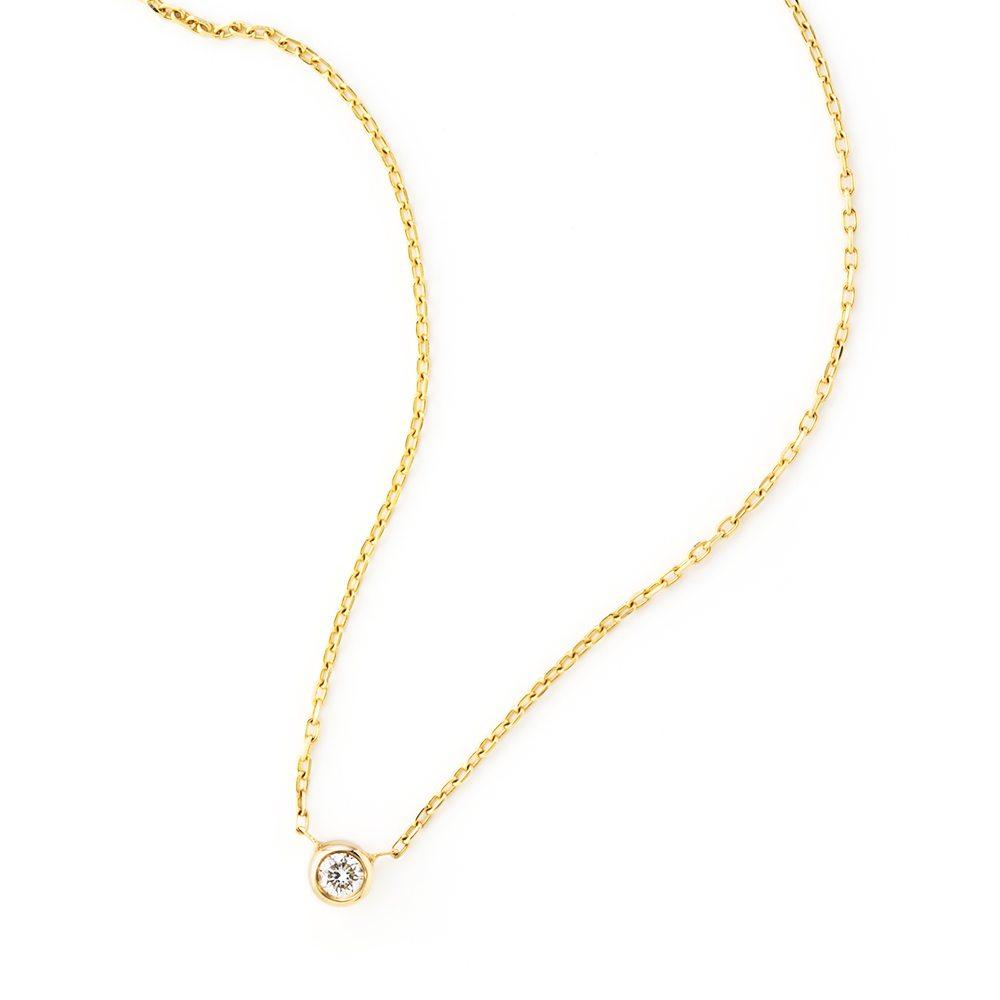 Loulerie Diamond Droplet Necklace | 14K Gold | Diamond