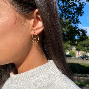 BY BOE DOUBLE TEARDROP EARRINGS
