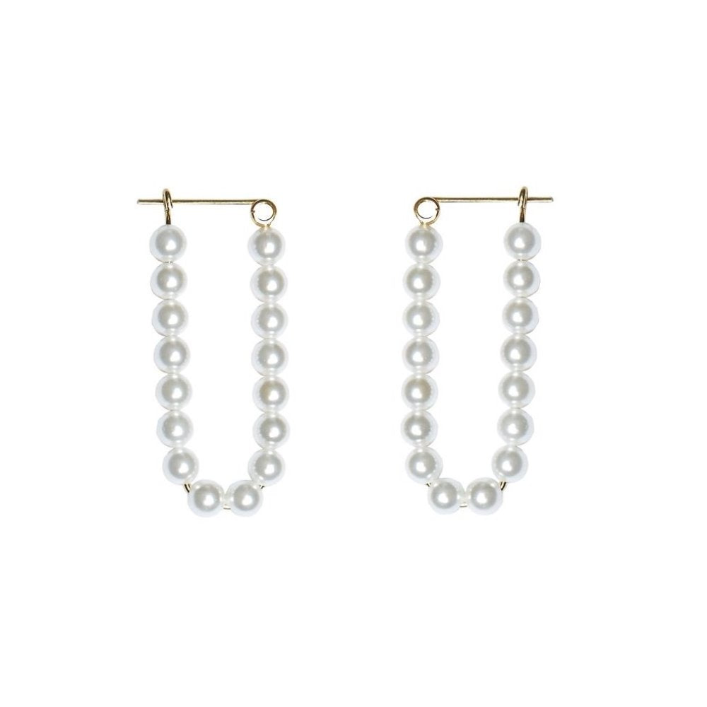 Charlotte Lebeck Sophie Pearl Earring | 925 Sterling Silver | 18k Gold Plate | Mother of Pearls