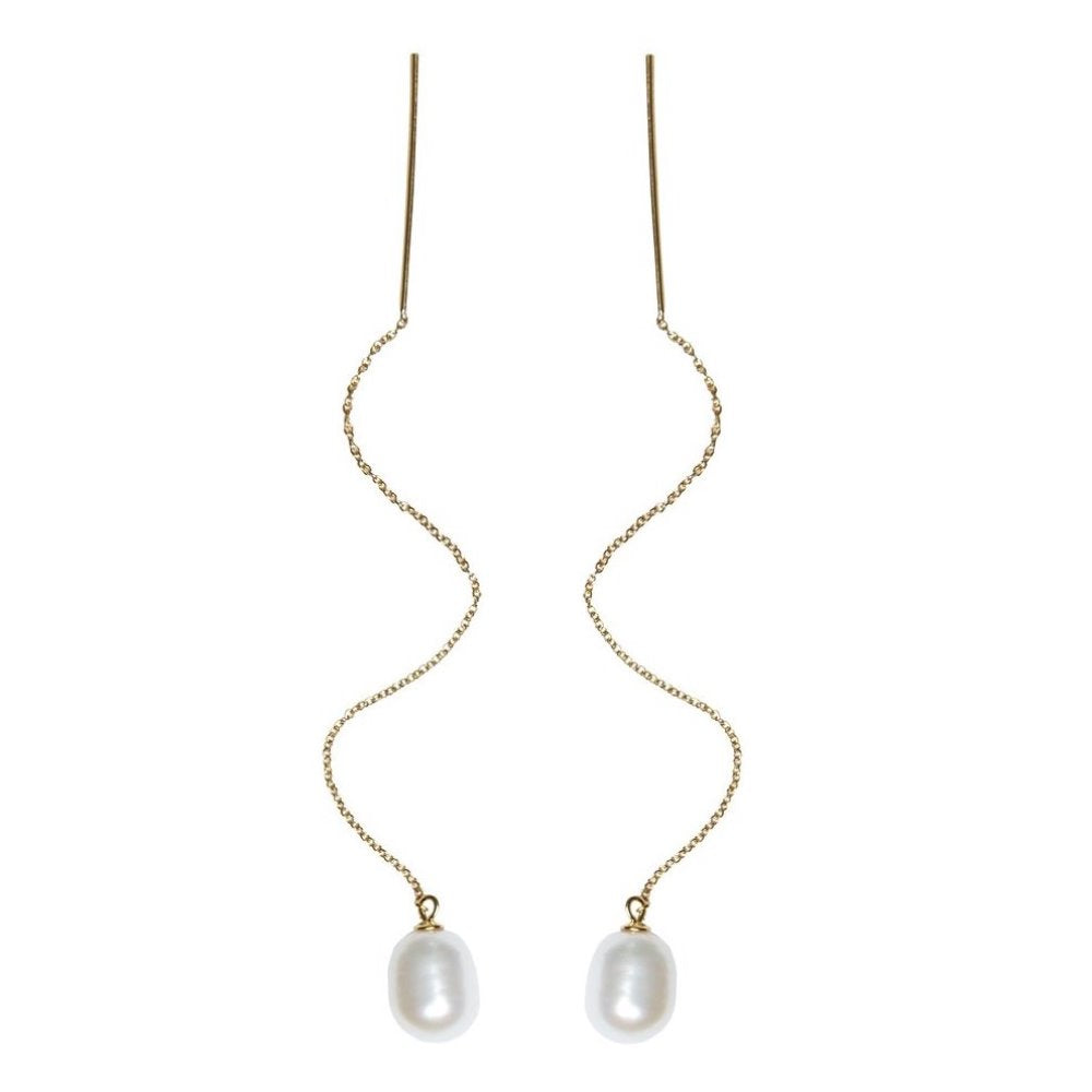 Charlotte Lebeck Eliza Pearl Earring | 925 Sterling Silver | 18K Gold Plate | Freshwater Pearls