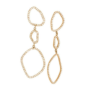 LOULERIE TRIPLE WAVE DIAMOND EARRINGS
