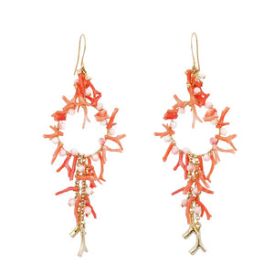 SUSAN SUELL RED CORAL EARRINGS