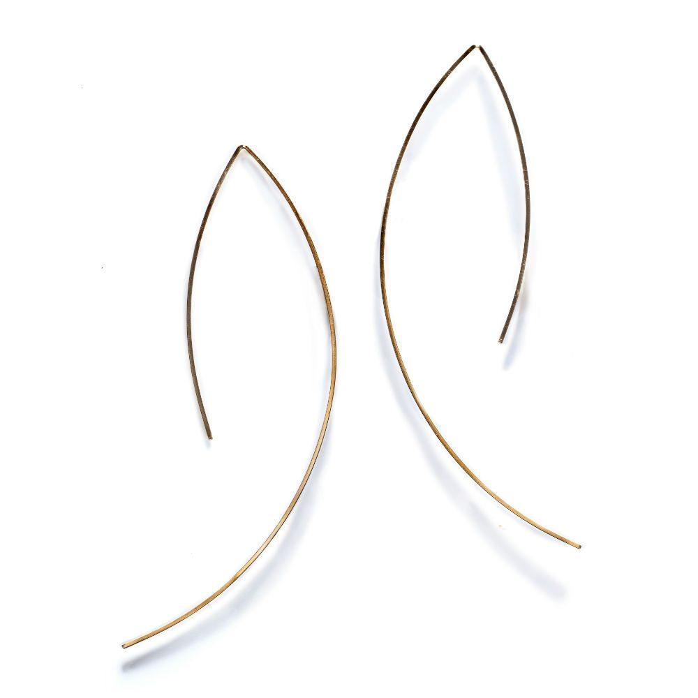 By Boe Open Angular Earrings | 14K Gold Plate