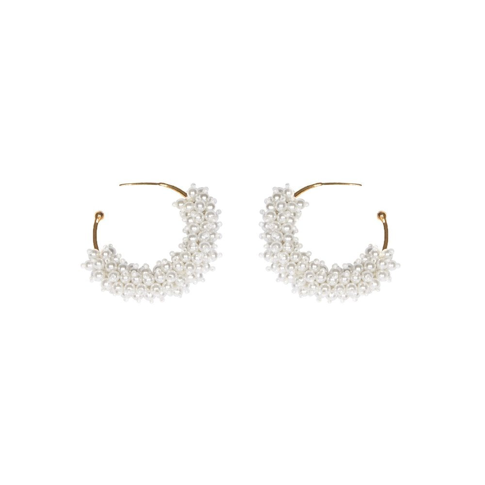 Mignonne Gavigan Taylor Mini Hoop Earrings | Gold Plate | Pearls
