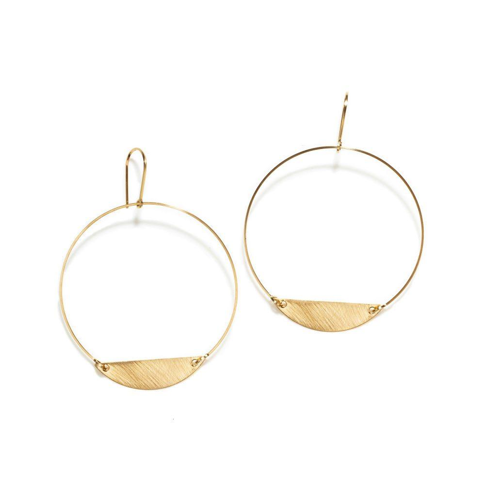 By Boe Bauhaus | 14k Gold Plate | Hoops