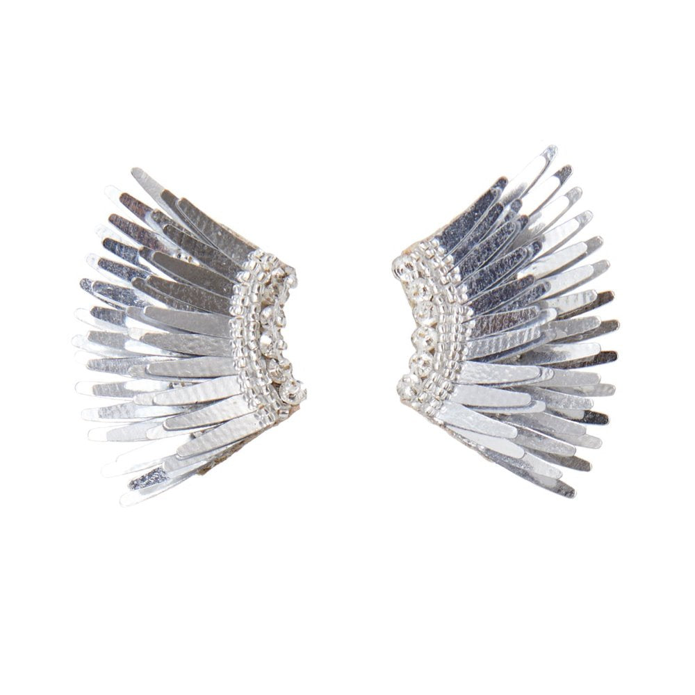 Mignonne Gavigan Silver Mini Madeline Earrings | Sequins | Silver