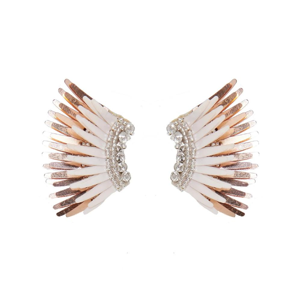 Mignonne Gavigan Mini Madeline Ivory Rose gold Earrings | Gold Plate | Leather at the back
