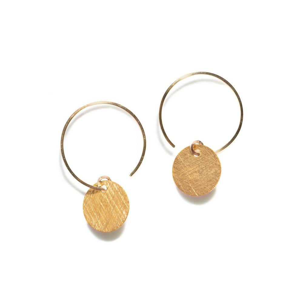 BY BOE ROUND PLATE HOOP EARRINGS