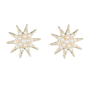 LULU FROST PEARL ELECTRA STUD EARRINGS