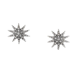 Lulu Frost Electra Stud Earrings Antique Silver