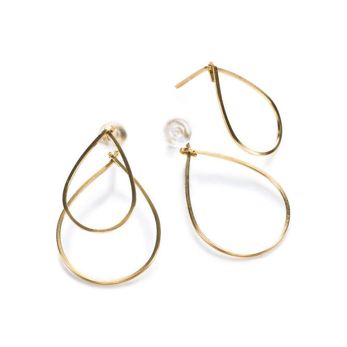 By Boe Double Teardrop Earrings | 14K Gold Plate