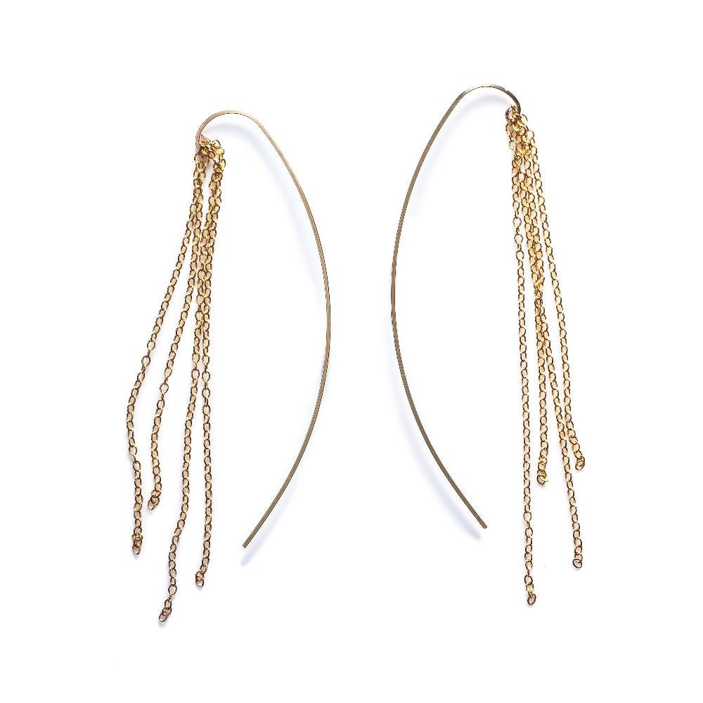 By Boe Fringe Threader Earrings | 14K Gold Plate