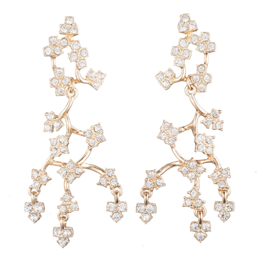 LULU FROST CRYSTAL JACKIE POST DROP EARRINGS