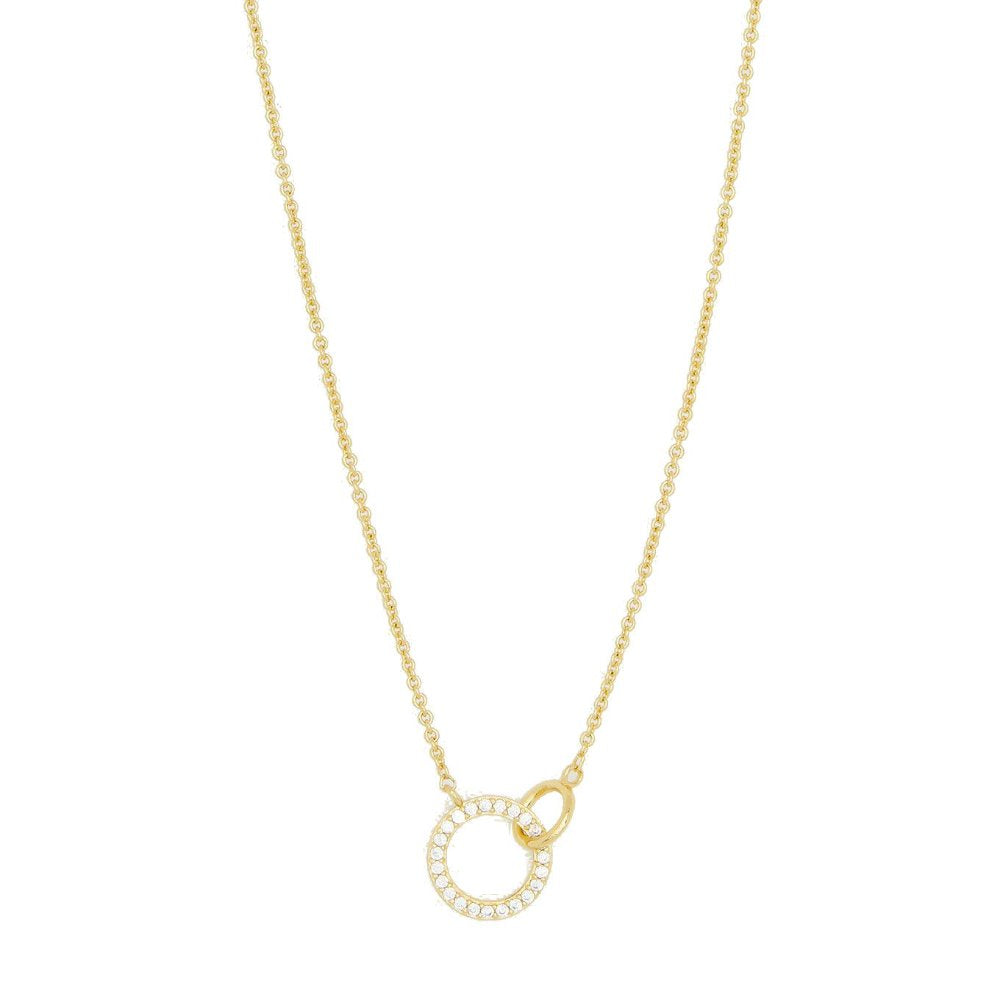 Gorjana Bilboa Shimmer Interlocking Adjustable Necklace | 18K Gold Plate | Cubic Zirconia